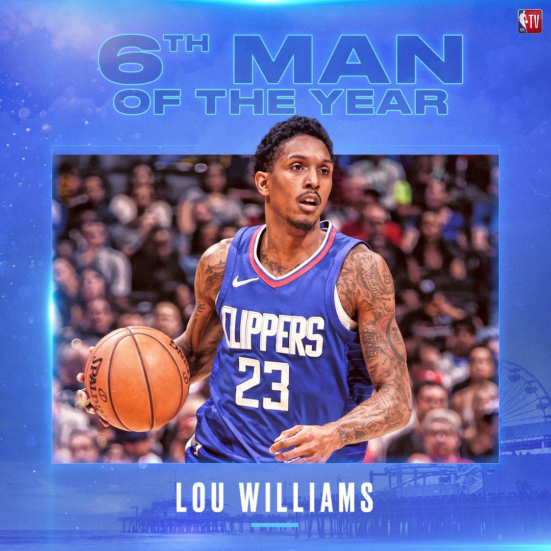 路易斯-威廉姆斯当选最佳第六人,媒体发图向其致敬