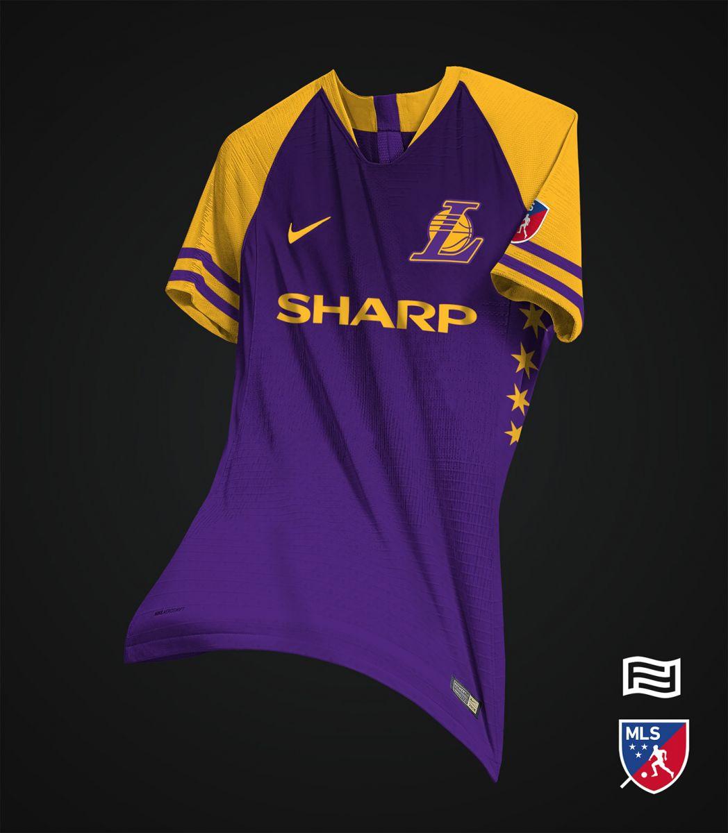 足球风!阿根廷设计师为nba西部球队设计球衣