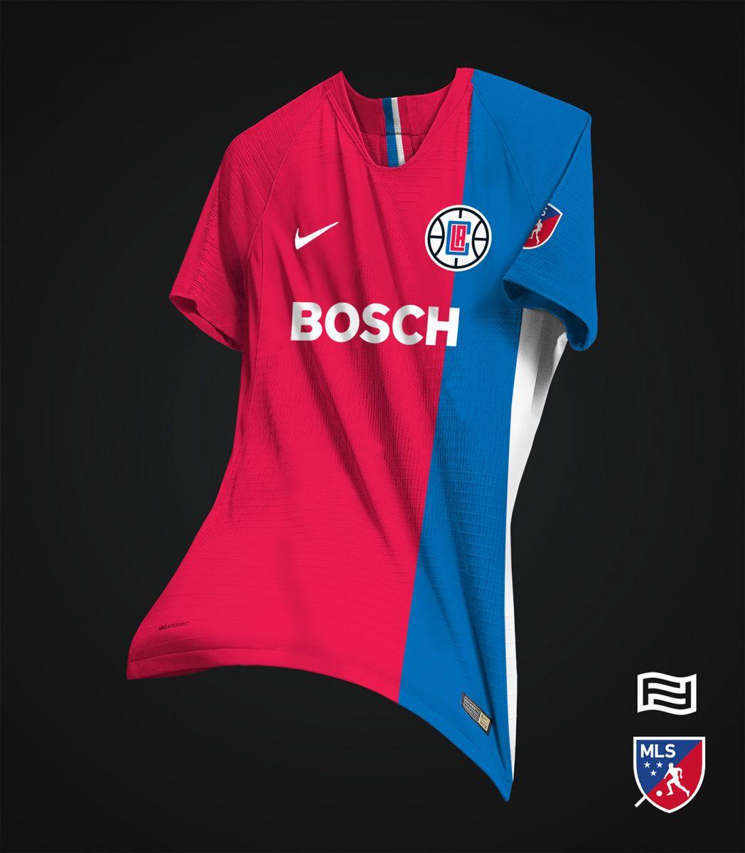 足球风!阿根廷设计师为nba西部球队设计球衣图片