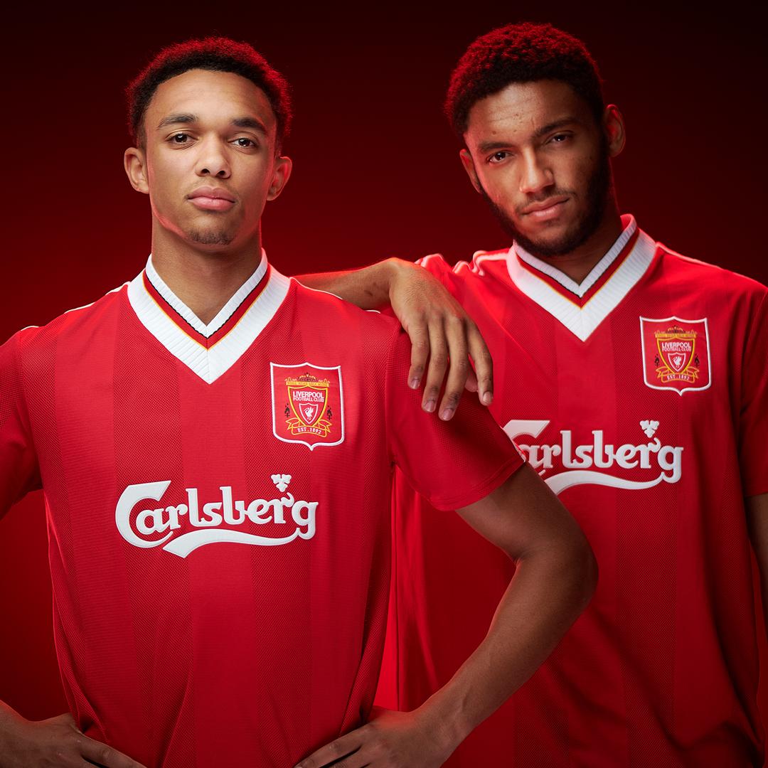 利物浦商城推4套复古球衣,经典嘉士伯重现