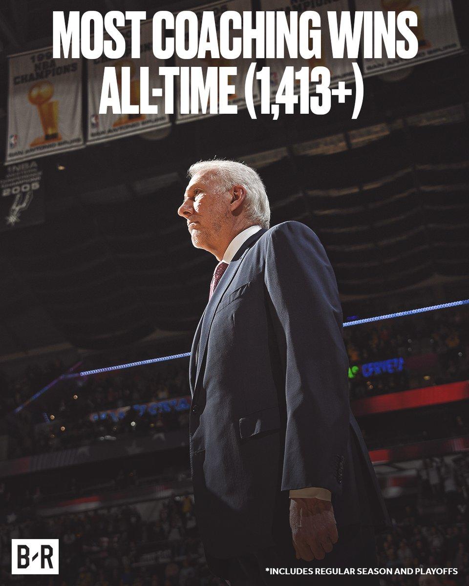 波波维奇执教生涯总胜场独占历史第一,媒体纷纷发图致意 NBA新闻 第5张