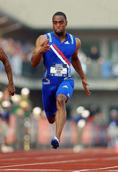 泰森-盖伊与贾斯汀-加特林轻松完成100米首轮比赛