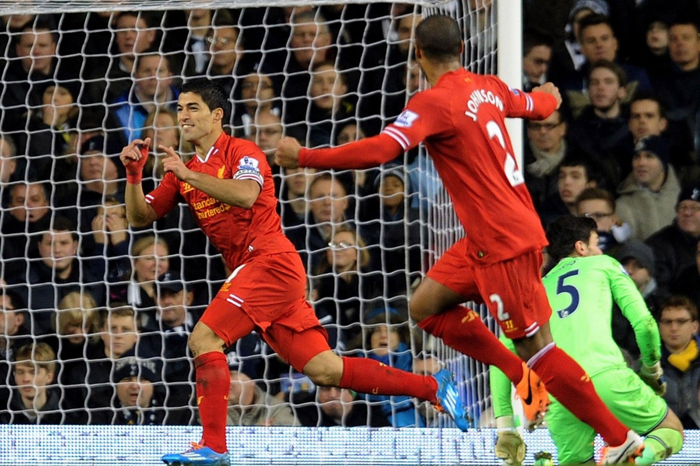 在利物浦5-0大胜热刺的比赛中,苏亚雷斯