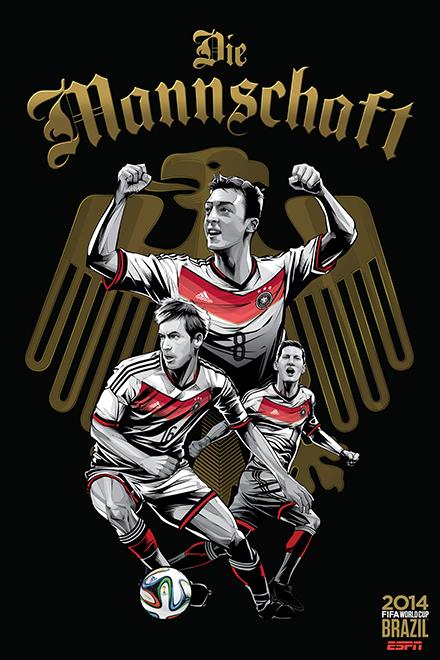 espn世界杯32强球星海报