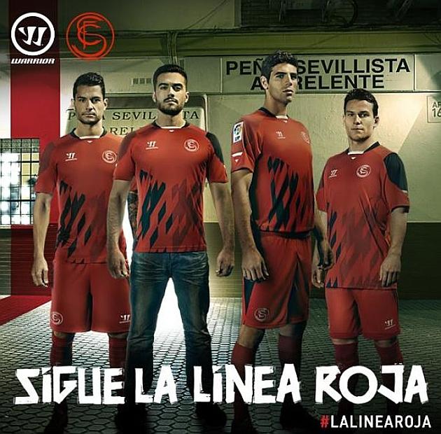 本周五,塞维利亚公布了将在8月12日欧洲超级杯决赛所穿的球衣图片