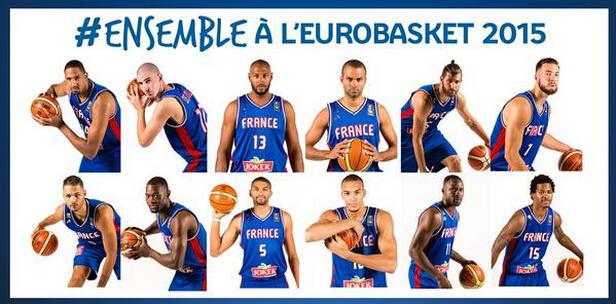 ... 法国国家男篮公布了参加2015年欧锦赛的12人大名单