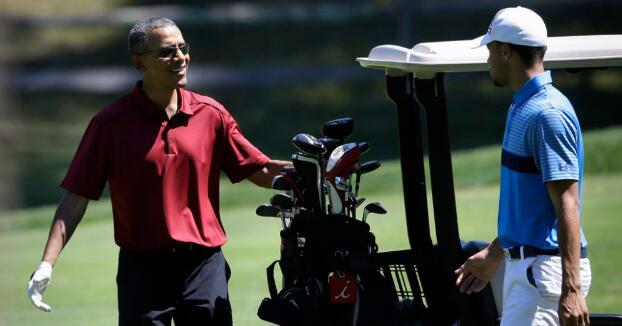 库里:与总统打高尔夫紧张过总决