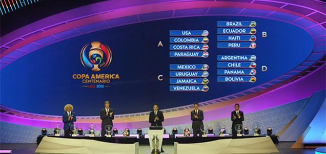 2016百年美洲杯分组抽签结果出炉