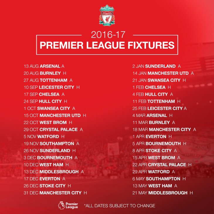 Sina sports epl fixtures 2018 signings epl results