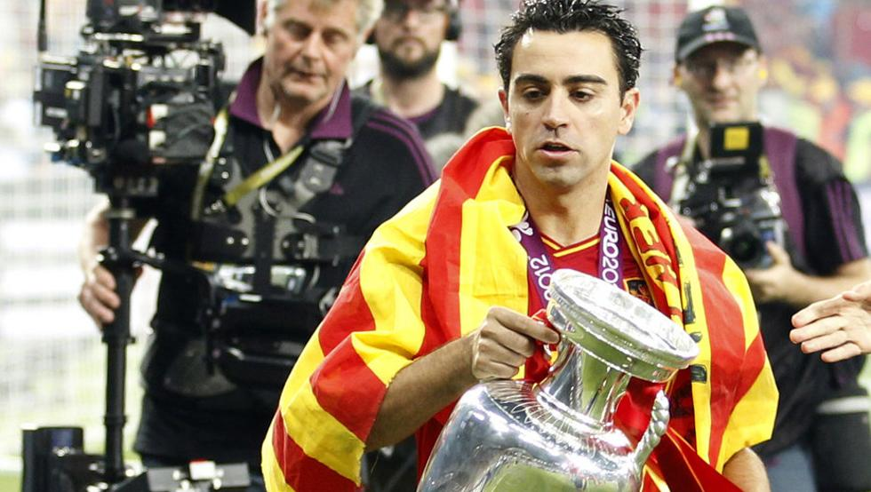 最后的告别!哈维将代表西班牙交接德劳内杯