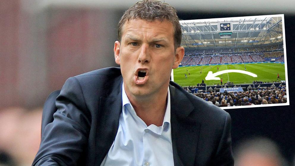 出奇招,沙尔克更改教练席位置对付拜仁?