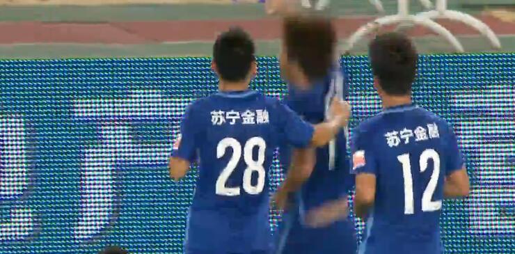 GIF:谢鹏飞远射破门,苏宁1-0泰达