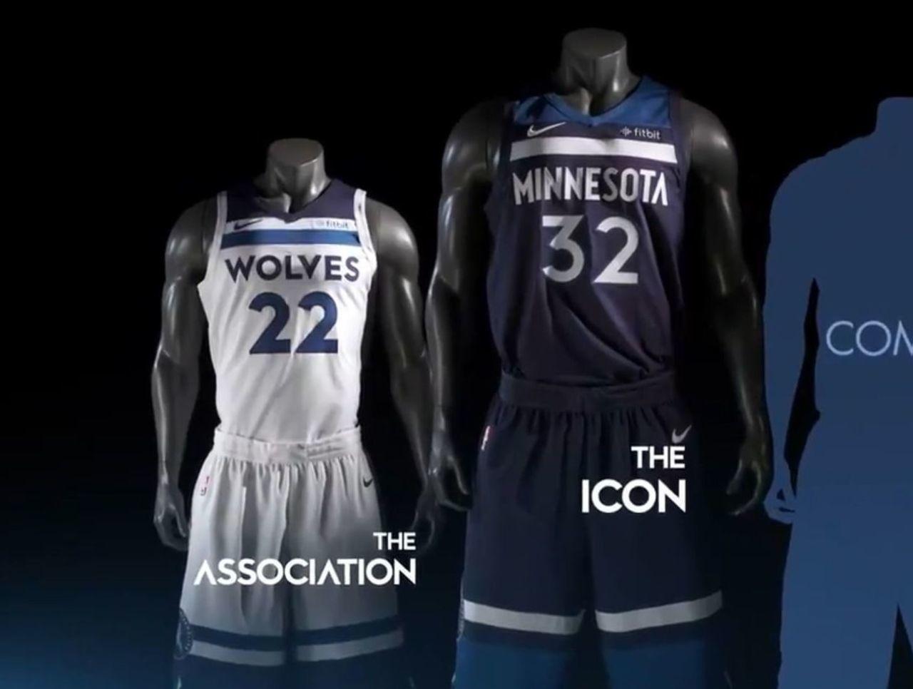 森林狼官方正式公布新赛季新球衣图片