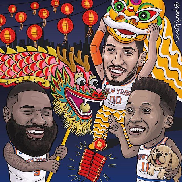 尼克斯官方发布春节主题海报做赛事预告