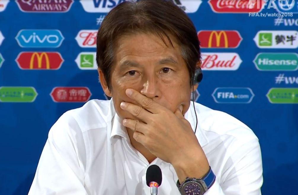 直播吧体育小编提供日本国家队主帅西野朗照片
