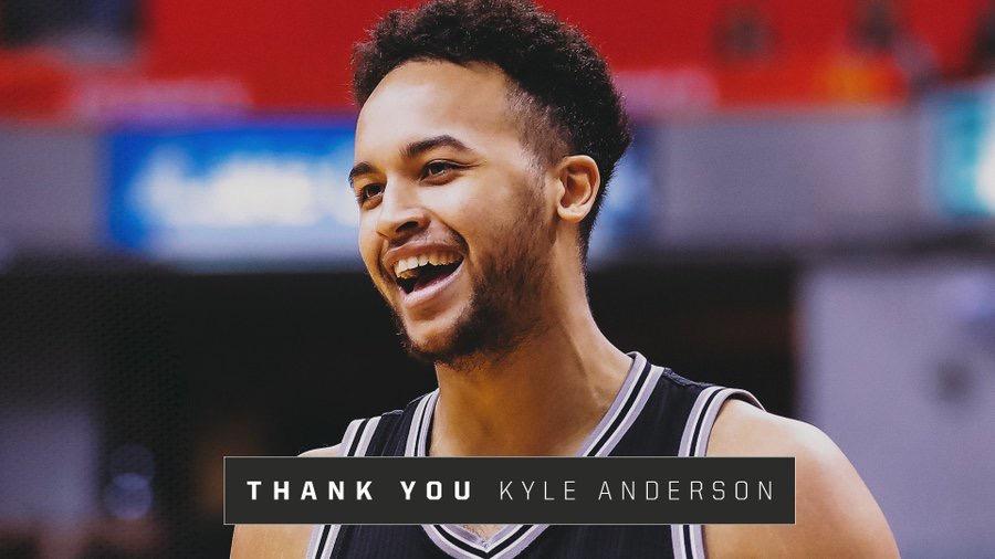 马刺官推:谢谢你!凯尔-安德森