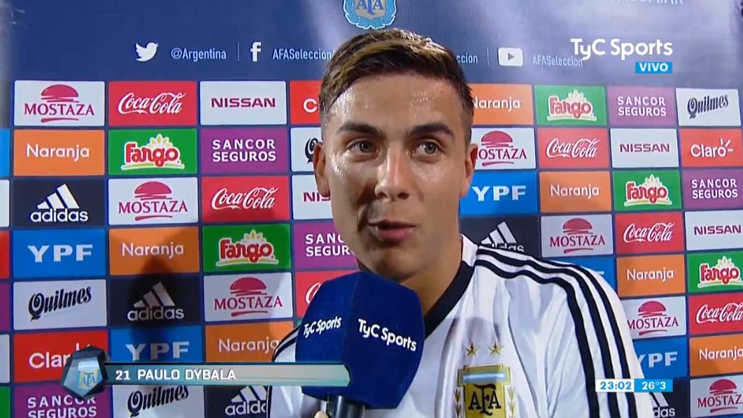 迪巴拉:进球让我如释重负,未来要为阿根廷继续进球