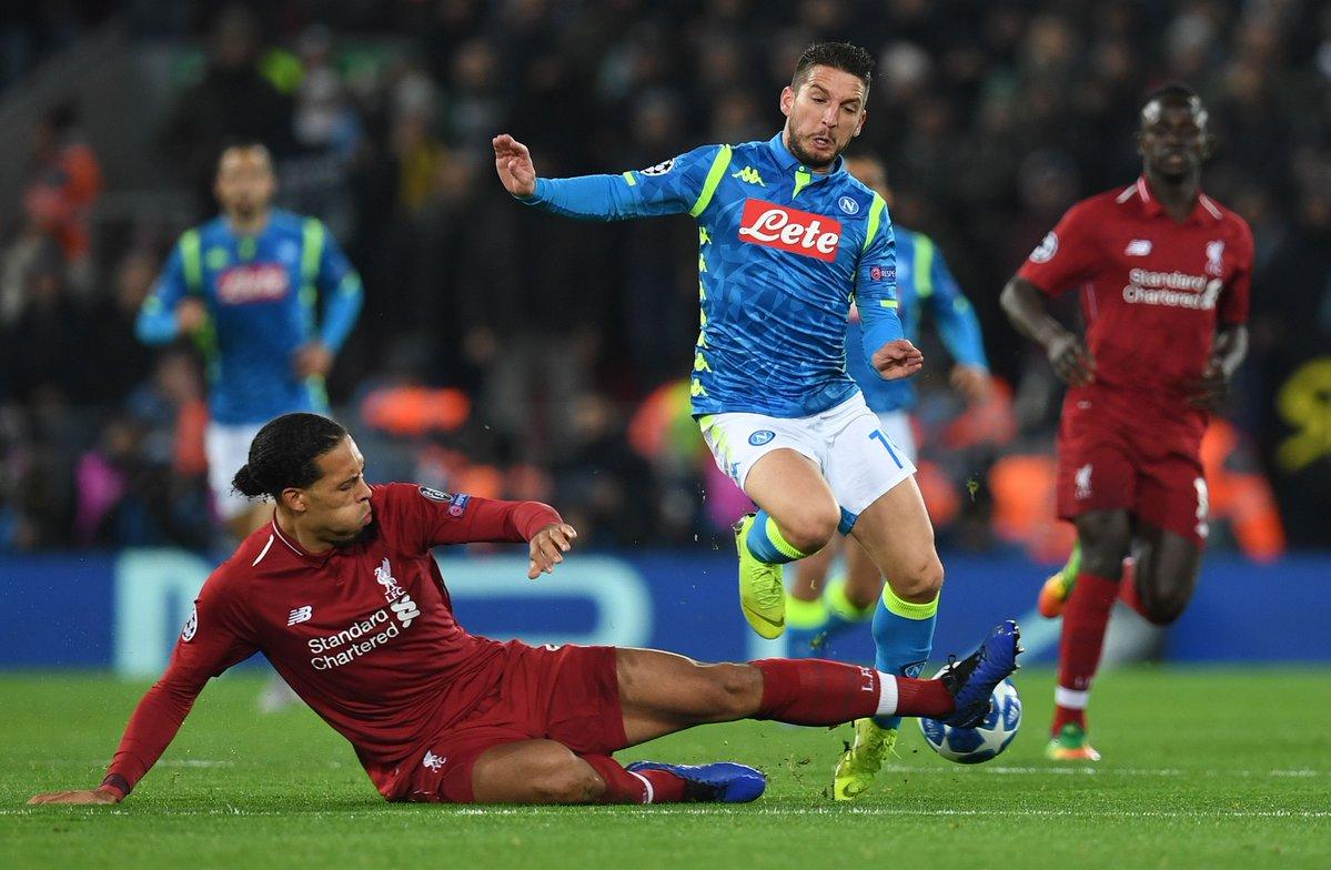 小组赛累计3张黄牌,范戴克将错过利物浦欧冠淘汰赛首轮