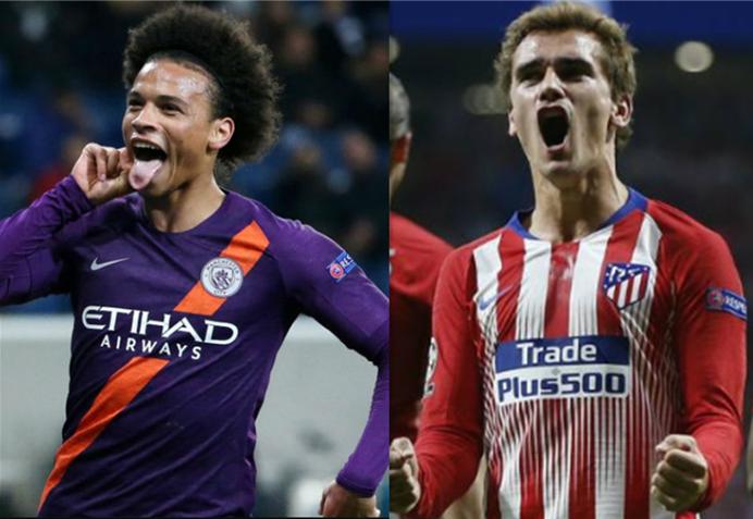 欧冠1/8决赛抽签概率:曼城vs马竞出现概率最高