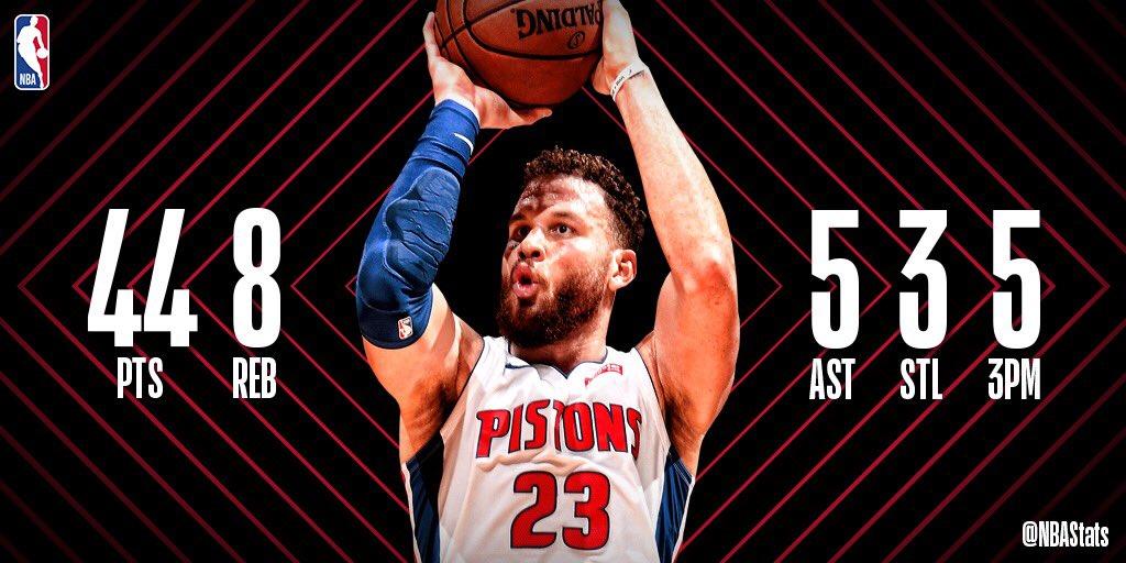 NBA官方评选今日最佳数据:格里芬44+8+5当选