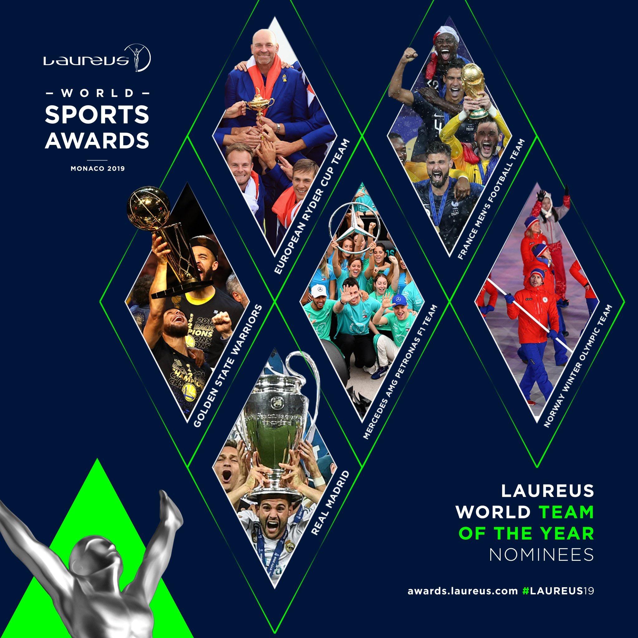 金州勇士队获得劳伦斯奖年度最佳体育团队提名