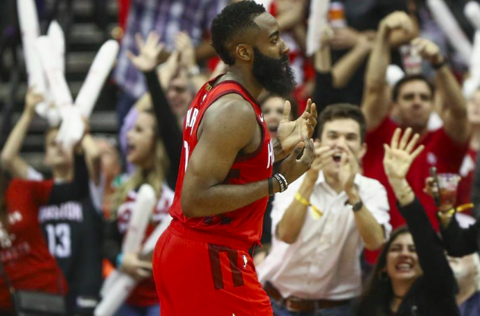 NBA官方公布最新的MVP榜单排名:哈登居首