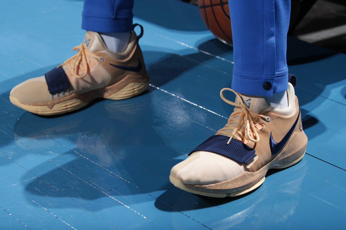 今日常规赛上脚球鞋一览:乔治上脚PG1PE