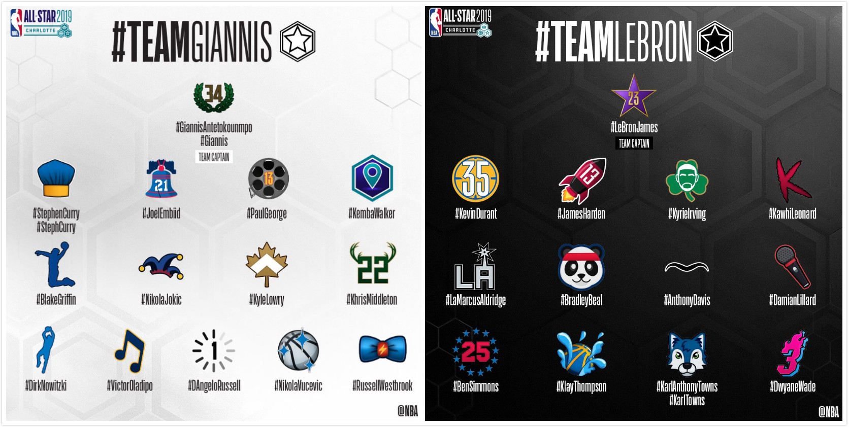 NBA官方发布各位全明星球员专属表情符号