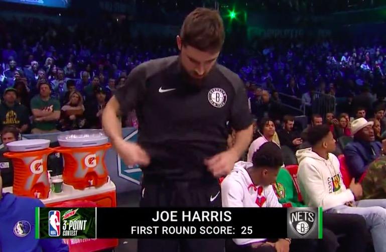 手感火热!乔-哈里斯首位出场得到25分