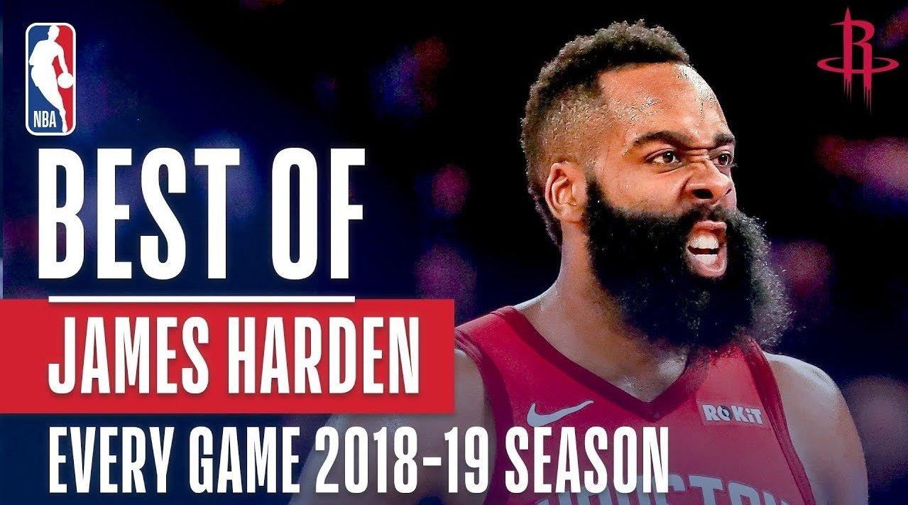 哈登本赛季每场比赛最佳镜头:背运晃倒,三分绝杀