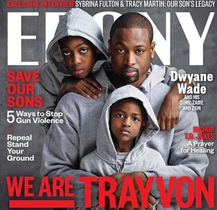 韦德回顾自己7年前的今天与两个儿子登上杂志封面