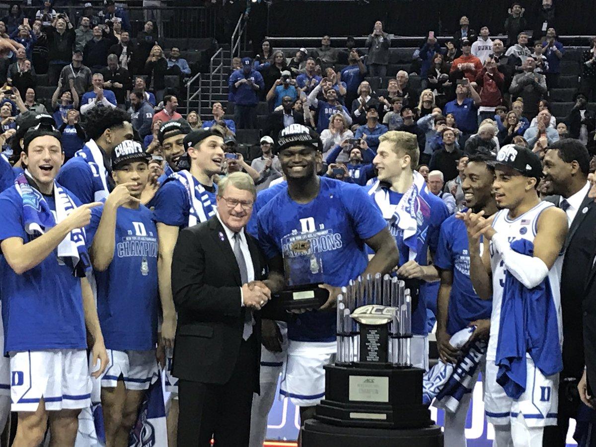 杜克夺得ACC分区锦标赛冠军,蔡恩-威廉森获MVP