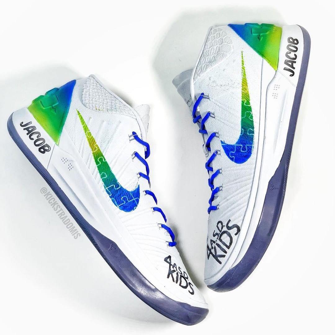 """暖心!英格尔斯今日在球鞋上写着""""为了自闭症儿童"""""""