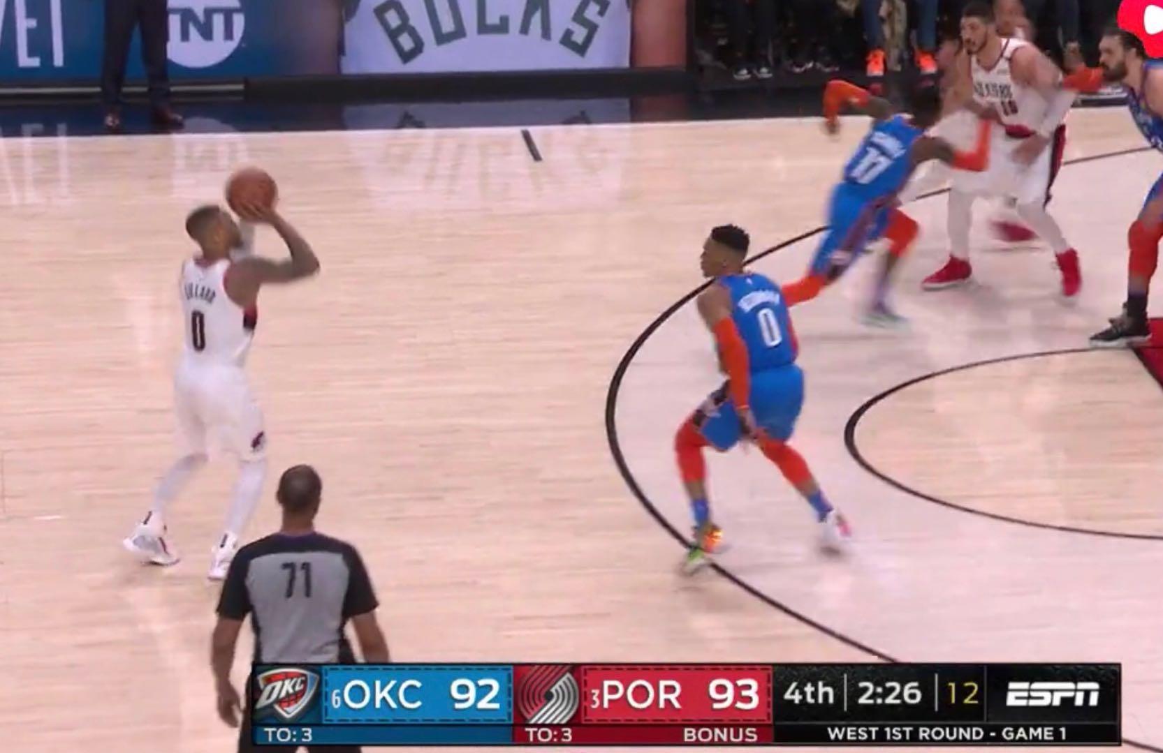 利拉德时间!超远answerball维持分差 NBA新闻