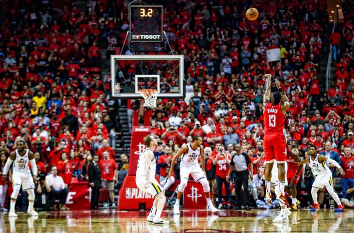 火箭32分胜爵士,为队史季后赛第二高净胜分 NBA新闻