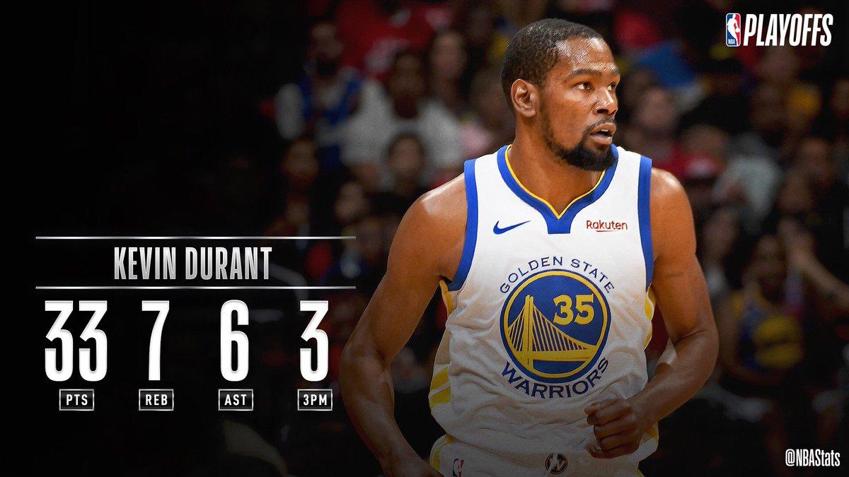 NBA官方评选今日最佳数据:杜兰特33+7+6当选