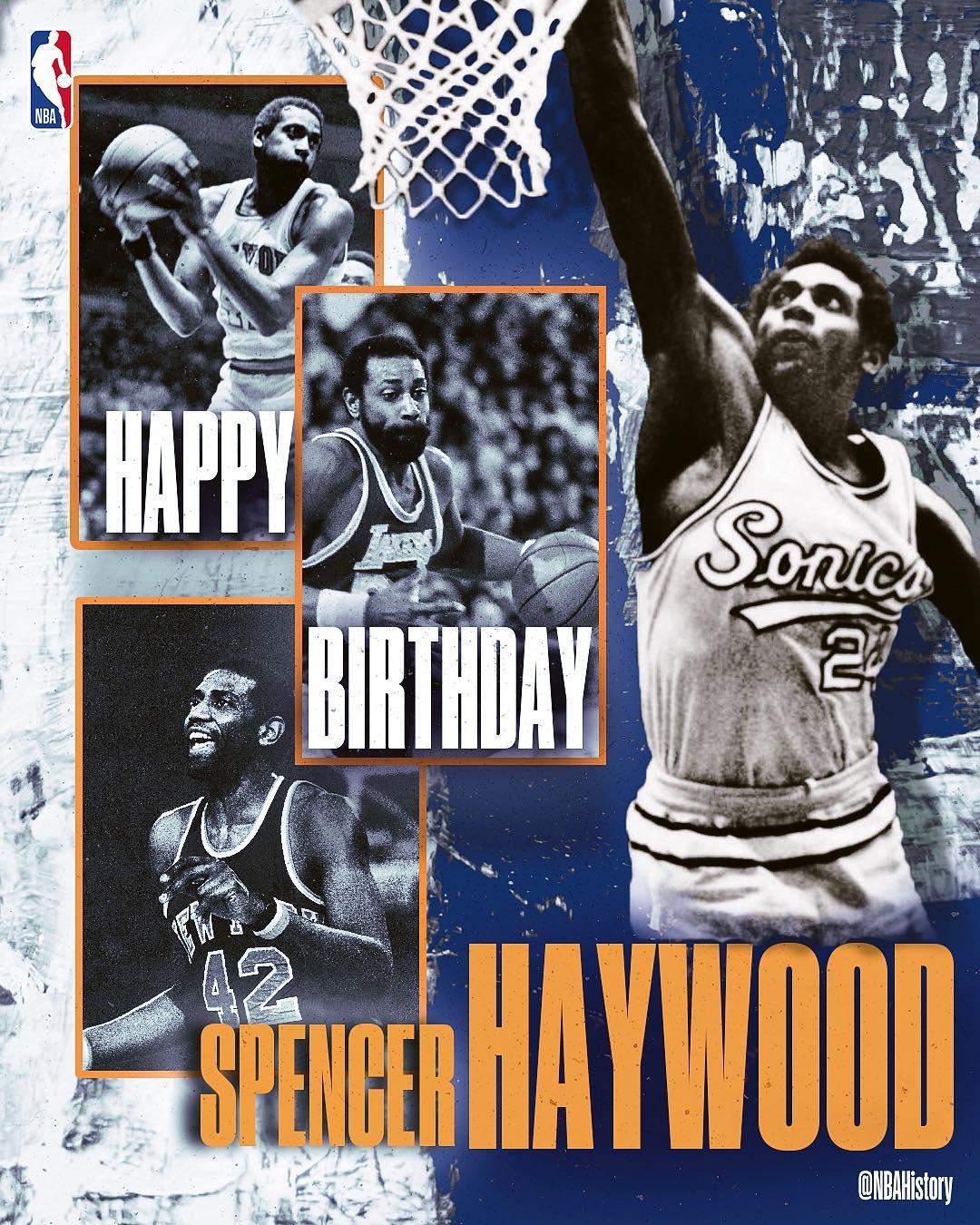 NBA官方祝名宿斯潘塞-海伍德70岁生日快乐