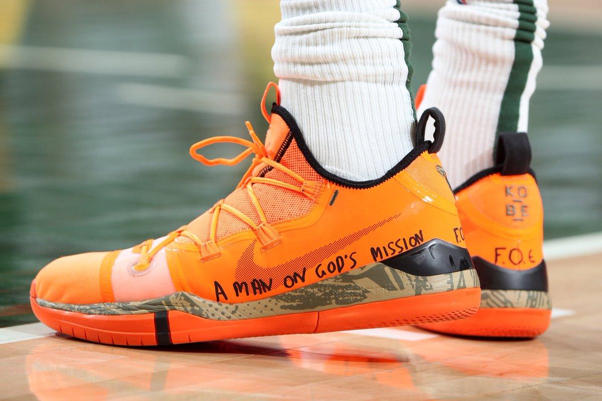 今日季后赛上脚球鞋一览:字母哥上脚KobeAD NBA新闻 第1张