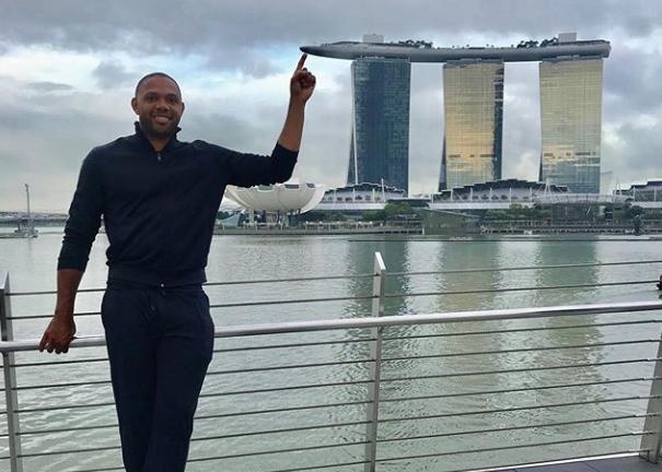 戈登更新个人社媒晒出自己在新加坡游玩照片