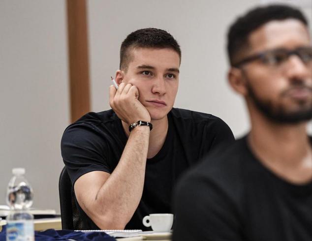 波格丹晒出自己在大学进修课程照片并感慨:今天很漫长 NBA新闻