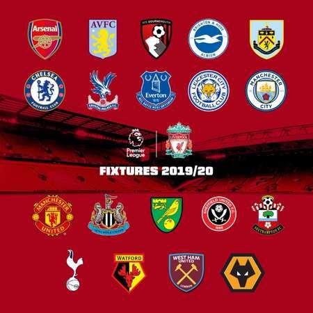 利物浦19-20赛季赛程:首战诺维奇,5月战伦敦双雄