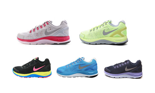 正品 耐克 LUNARGLIDE+ 4 女子跑步鞋524978-404-406-200-009-300