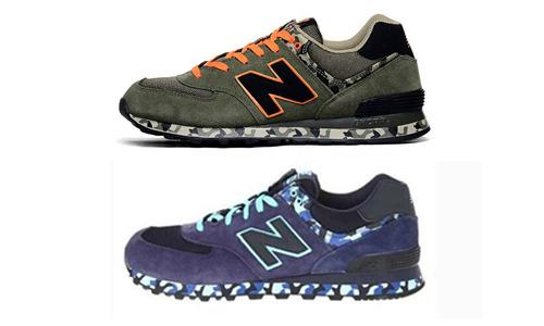 现货专柜正品 ML574CNB ML574CGR 迷彩系列 男子复古慢跑鞋