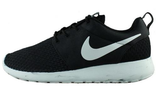 现货正品 Nike Rosherun M 黑白泼墨超舒适跑鞋669985-001