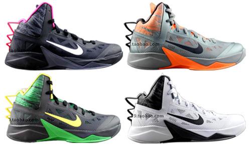 耐克Nike Zoom Hyperfuse 2013 HF2013 615896-002-004-302-006