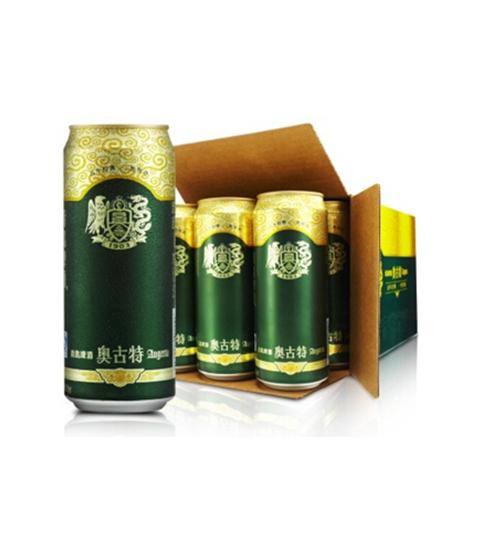 百年经典!青岛啤酒 奥古特啤酒500ml*12听/箱