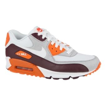 Nike Air Max 90 红褐色/白/浅灰色/救生橙
