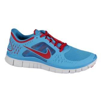 Nike Free Run+ 3 粉蓝/宇宙红/纯铂色