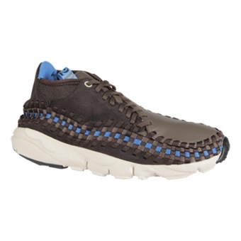 Nike Air Footscape Woven Chunkka 黑茶色/自然杂色/岩石色/亮蓝