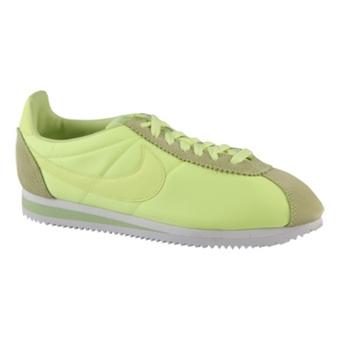 Nike Classic Cortez Nylon 石灰色/白/青绿色